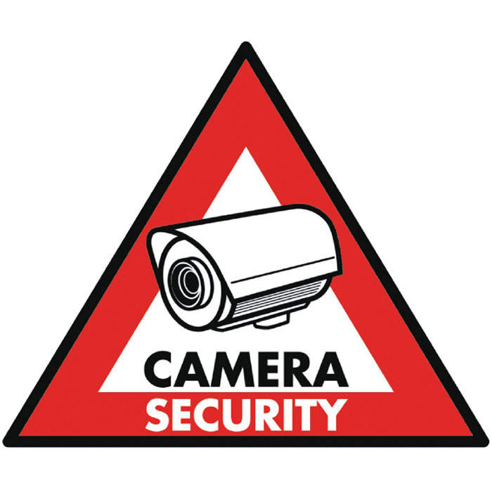 SAS-ST-CS  STICKER CAMERA SECURITY 123 x 148 mm (Αυτοκόλλητο CAMERA SECURITY 123x148mm)