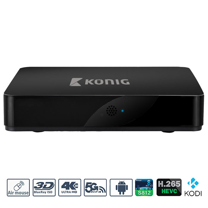 KN-4KASB 4K Android streaming box 4K 3D 5G Wi-Fi (Mini Android TV box, με υποστήριξη 4K κα...)