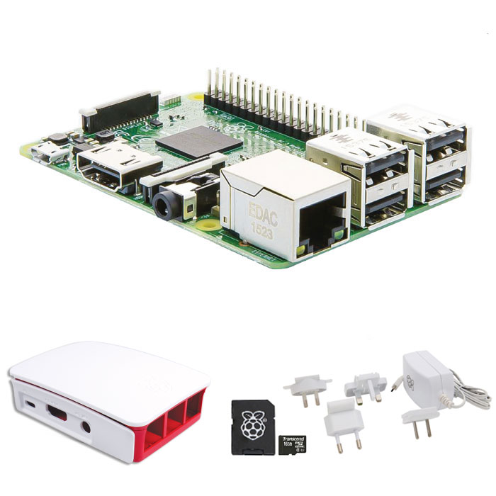 RASPBERRY Pi ESSENTIALS KIT WiFi + NOOBS software tool (Raspberry Pi 3 Model B Essentials kit, μ...)