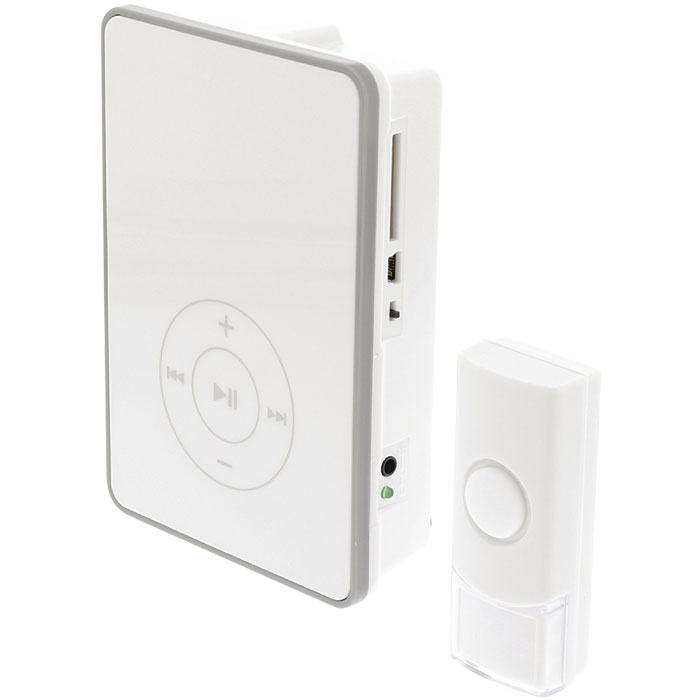 SAS-WDB 211 Wireless Doorbell, USB and SD slots, Battery Powered 80 dB White/Gre (Ασύρματο κουδούνι, με θύρα mini USB και ...)