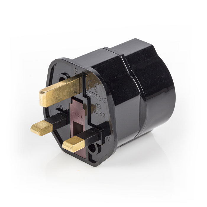 EL-TRAVEL 01 BL Travel Adapter Europe-to-UK Earthed (Αντάπτορας πρίζας, 3 pin (αγγλικό) σε sc...)