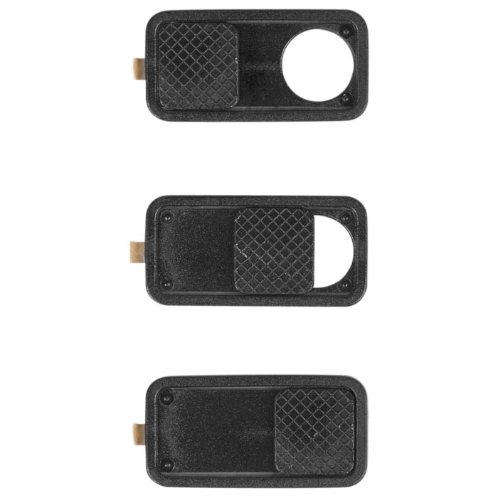 SAS-CCP3 Webcam Covers Camera Cover Plastic Black 3 pcs (Universal πλαστικό anti-spy κάλυμμα κάμε...)