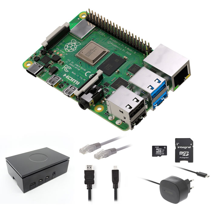 RASPBERRY RP4KIT 1GB Raspberry Pi 4 1 GB Starter Kit + NOOBS Software Tool (Raspberry Pi 4 Starter Kit με WiFi και M...)