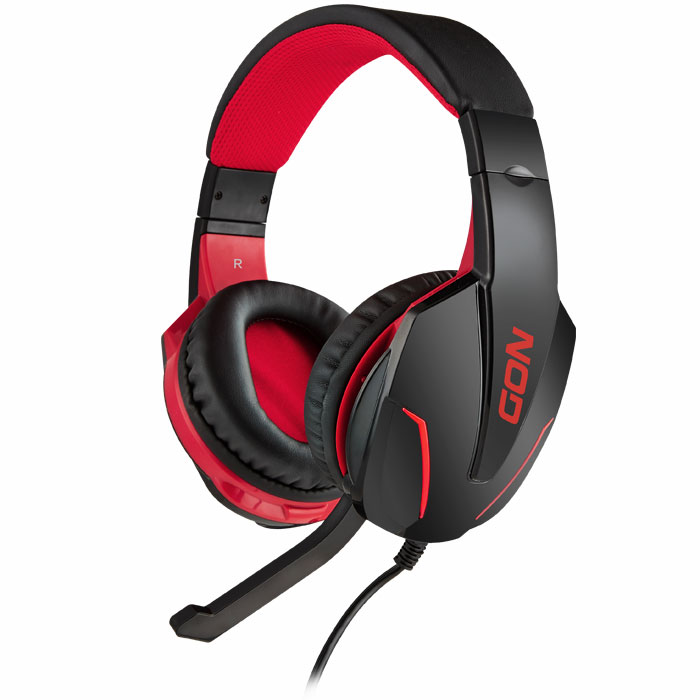 NOD G-HDS-001 GAMING HEADSET BLACK WITH RED LED (Gaming headset με ρυθμιζόμενο σε κλίση μ...)