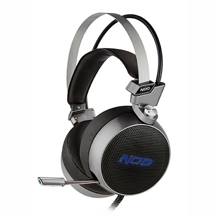 NOD G-HDS-003 GAMING HEADSET ALUMINIUM WITH BLUE LED (Gaming headset με retractable μικρόφωνο,...)