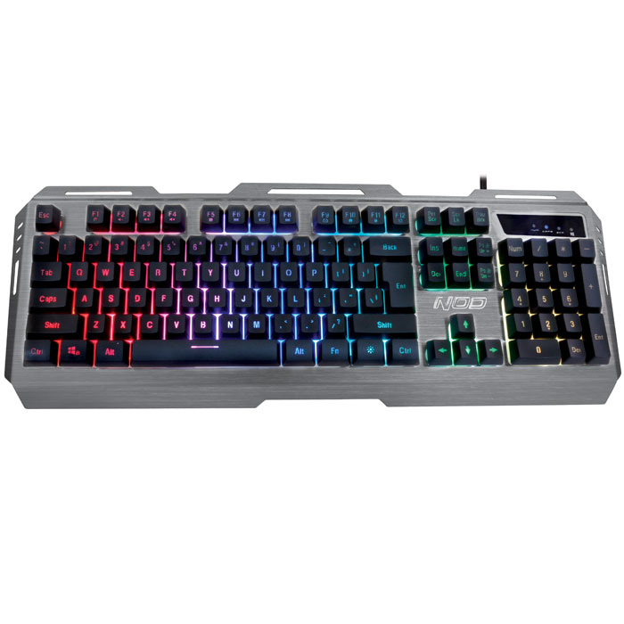 NOD SILVER SKY G-KBD-003S - GAMING ALUMINIUM KEYBOARD WITH 7 RGB BACKLIGHT (Ενσύρματο gaming πληκτρολόγιο, με backli...)