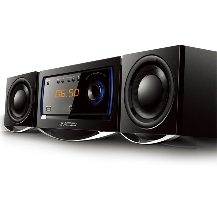 NOD MHS-001BL Mini Hi-Fi System with CD,USB, bluetooth and Blue LED (Mini Hi-Fi με CD player, FM ράδιο, σύνδε...)