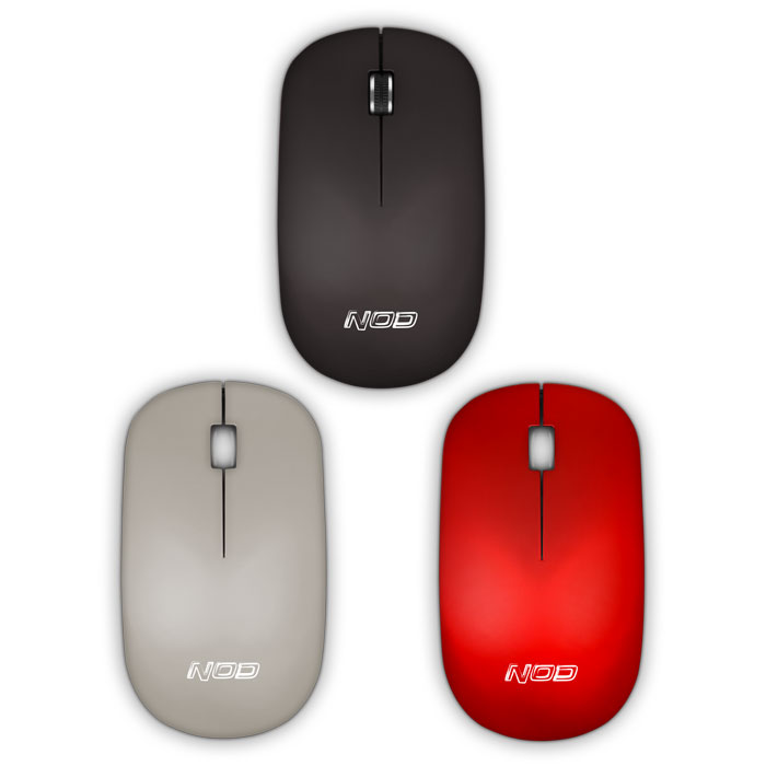 NOD COV3R Wireless Optical Mouse Black+2 Color Covers (Ασύρματο οπτικό ποντίκι 24GHz, με 3 εναλ...)