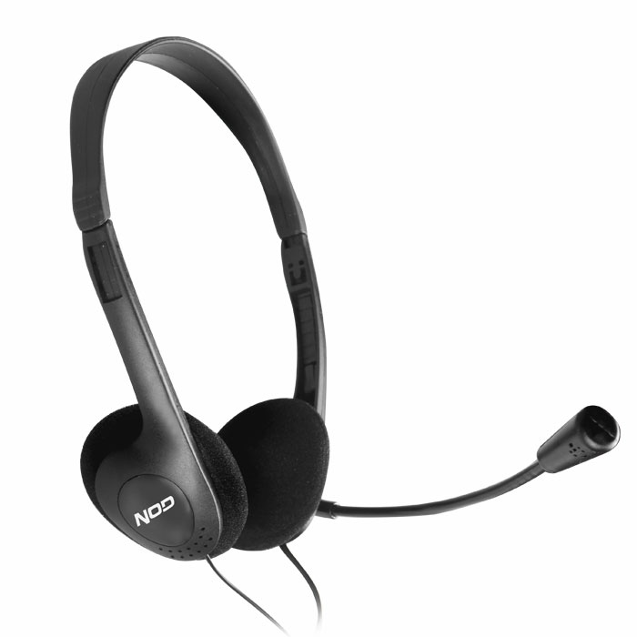 NOD PRIME HDS-005 HEADPHONES WITH MIC,BLACK (Στερεοφωνικό headset, με σύνδεση 2x3,5mm)