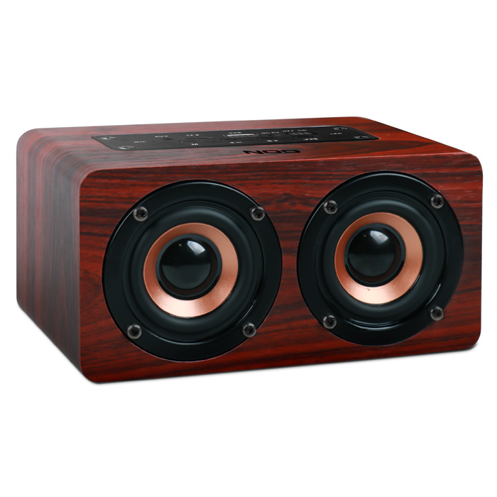NOD CONCERTO Bluetooth Wooden speaker 2x5W,Brown Red / BTS-300 (Ξύλινο φορητό bluetooth ηχείο, 2 x 5W)