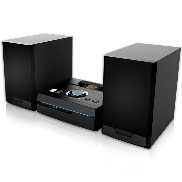 NOD STAGE Mini Hi-Fi System with CD,USB, Bluetooth, FM and  blue LED, 50W (Mini Hi-Fi με CD player, FM ράδιο, σύνδε...)