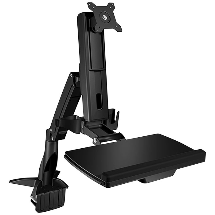 "ICY BOX IB-MS600-T DESK MOUNTED SIT-STAND WORKSTATION DISPLAY UP TO 24' (61cm) (Επιτραπέζια βάση στήριξης ""Sit-Stand-Wor...)"