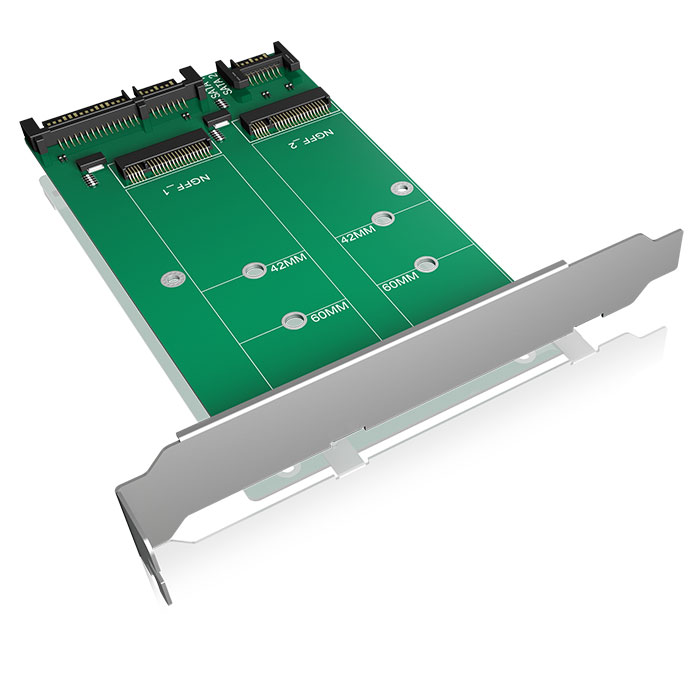 ICY BOX IB-CVB512-S Converter-board 2x SATA to 2x M.2 SATA (Μετατροπέας 2x M2 SATA SSD σε 2x SATA)