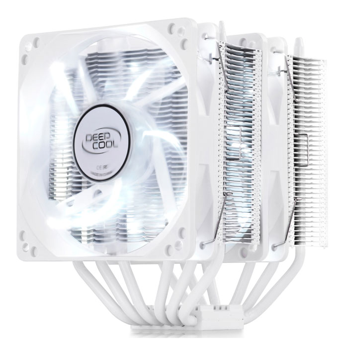 DEEPCOOL NEPTWIN WHITE CPU COOLER - UNIVERSAL (INTEL & AMD) (Λευκή Universal ψύκτρα για επεξεργαστές ...)