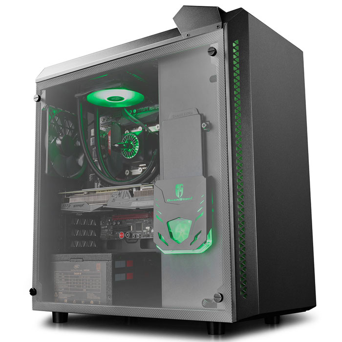 DEEPCOOL BARONKASE LIQUID BLACK ATX CASE (Κουτί DEEPCOOL BARONKASE LIQUID BLACK, γ...)