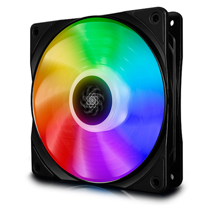 DEEPCOOL CF120 SINGLE RGB COOLING FAN 120mm BLACK (Ημιδιαφανής ανεμιστήρας 120mm, με Addres...)