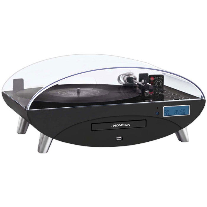 THOMSON TT400CD 3 SPEED TURNTABLE WITH CD/MP3 BLACK (Πικάπ με ραδιόφωνο / CD / MP3 / USB και ...)