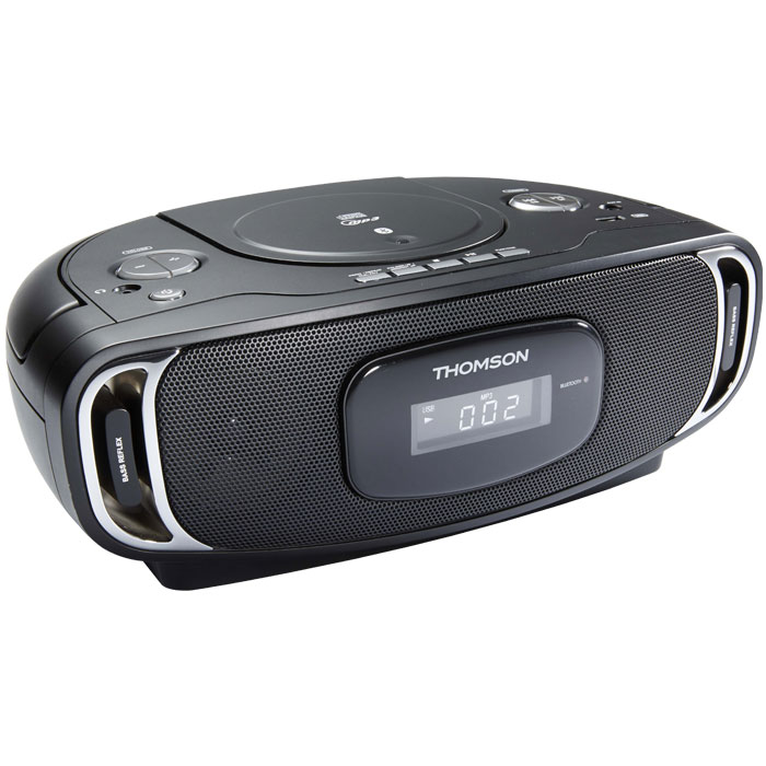 THOMSON RCD400BT BLACK PORTABLE RADIO CD/MP3/USB/BLUETOOTH (8W) (Φορητό ραδιόφωνο CD / MP3 / USB / BLUETO...)