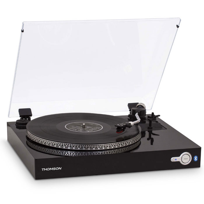 THOMSON TT200BT BLACK AUTOMATIC BLUETOOTH TURNTABLE (Πικάπ με ενσωματωμένο bluetooth)