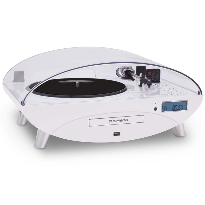 THOMSON TT401CD 3 SPEED TURNTABLE WITH CD/MP3 WHITE (Πικάπ με ραδιόφωνο / CD / MP3 / USB και ...)