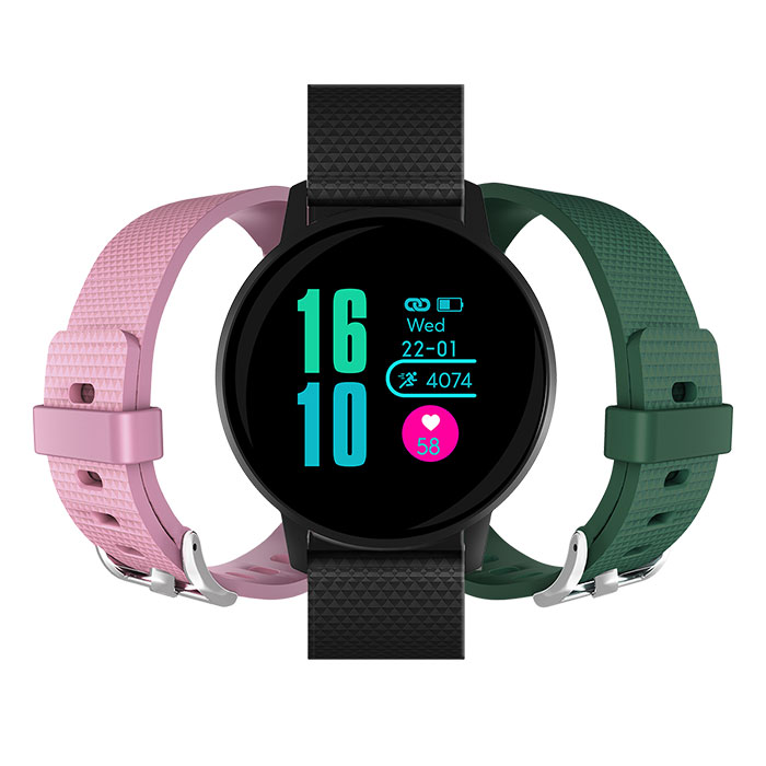 MLS Watch G3 Active + 2 straps (Dark Green & Pink) (MLS Watch G3 Active Black 2 straps (Dark...)