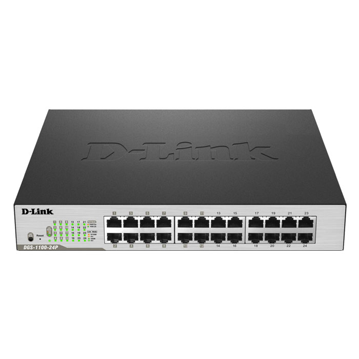 D-LINK DGS-1100-24P POE SMART MANAGED GIGABIT 12X-POE (24-Port PoE Gigabit Smart Managed Switch...)
