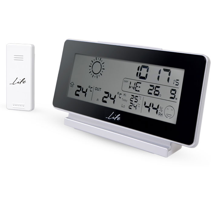 LIFE WES-200 Weather station with wireless outdoor sensor,clock& alarm function (Μετεωρολογικός σταθμός με ασύρματη εξωτε...)