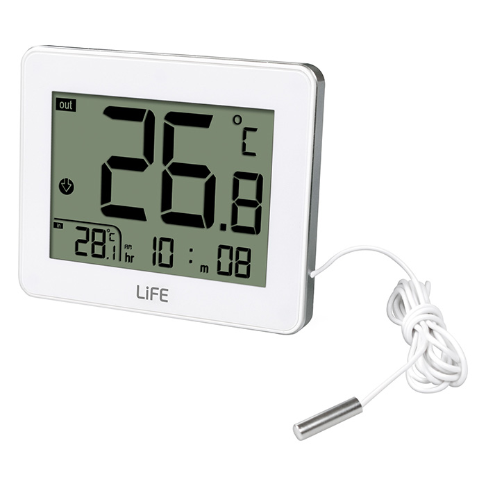 LIFE WES-202 Indoor/outdoor thermometer,White (Ψηφιακό θερμόμετρο εσωτερικής και εξωτερ...)