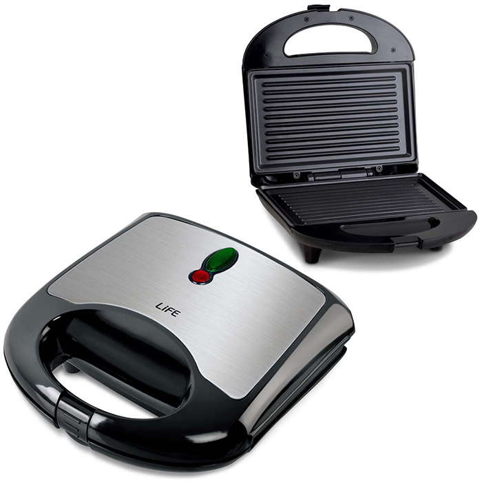 LIFE STG-001 Sandwich toaster with grill plates,700W (Τοστιέρα με grill πλάκες, 700W)