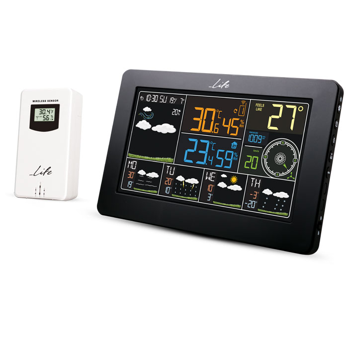 LIFE WES-401 Wi-Fi Weather station with wireless outdoor sensor,clock& alarm fun (Wi-Fi Μετεωρολογικός σταθμός με ασύρματο...)