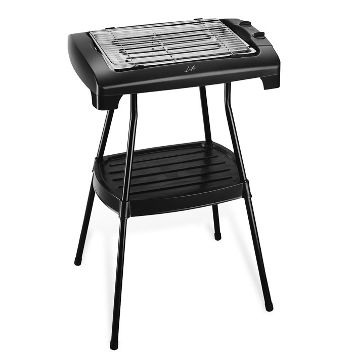 LIFE BBQ King Barbeque standing grill with storage shelf, 2000W (2 σε 1, stand και επιτραπέζια ηλεκτρική ...)