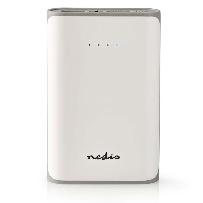 NEDIS UPBK7500WT Power Bank, 7500 mAh, 2-USB-A outputs 3.1A, Micro USB input, Wh (Φορητή μπαταρία φόρτισης Power Bank, 750...)