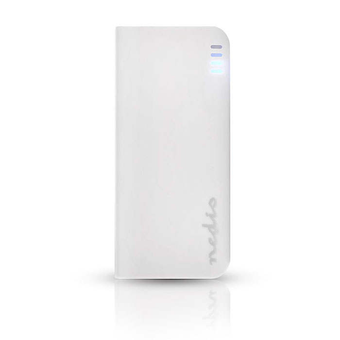NEDIS UPBK4000WT Power Bank, 4000 mAh, 1-USB-A output 1.0A, Micro USB input, Whi (Φορητή μπαταρία φόρτισης Power Bank, 400...)