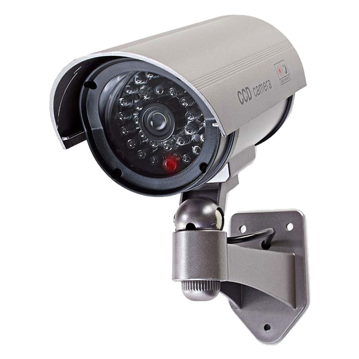NEDIS DUMCB40GY Dummy Security Camera, Bullet, IP44, Grey (Ομοίωμα κάμερας Security για εξωτερικό χ...)