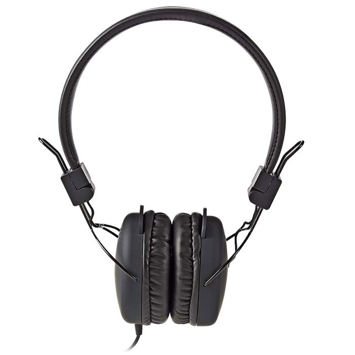 NEDIS HPWD1100BK Wired Headphones, On-ear, Foldable, 1.2 m Round Cable, Black (On-ear ακουστικά με καλώδιο 120m,σε μαύρ...)