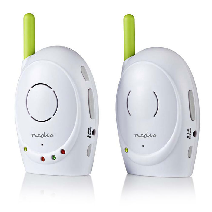 NEDIS BAMO110AUWT Audio Baby Monitor, 2.4 GHz, Talkback Function (Ασύρματο baby monitor, με δυνατότητα αμφ...)