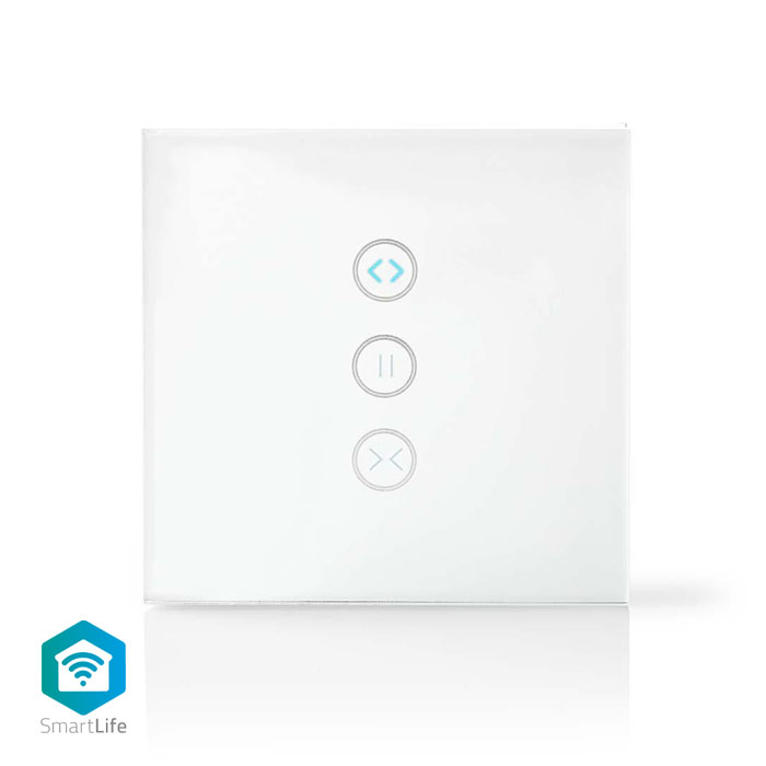 NEDIS WIFIWC10WT WiFi Smart Wall Switch, Curtain, shutter or sunshade controller (Wi-Fi Smart switch, για ηλεκτρικές κουρτ...)