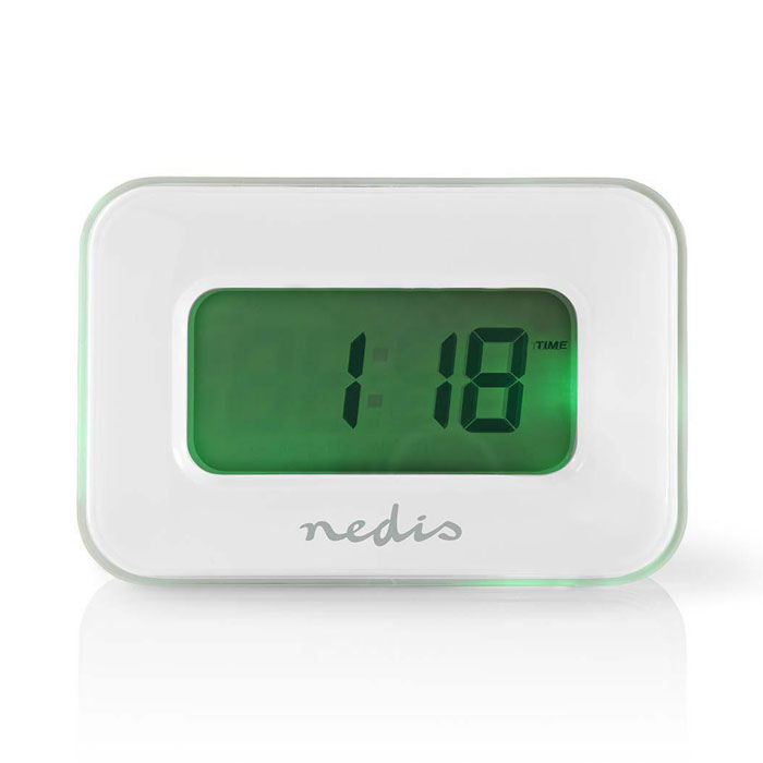 NEDIS CLAL110WT Digital Alarm Clock, Date/Temperature, Multi-Colour Display (Ψηφιακό ρολόι / ξυπνητήρι με θερμόμετρο ...)