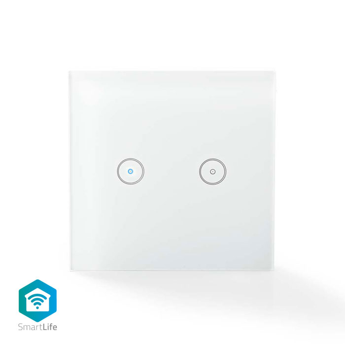 NEDIS WIFIWS20WT WiFi Smart Light Switch Dual (WiFi Smart Light Switch Dual)