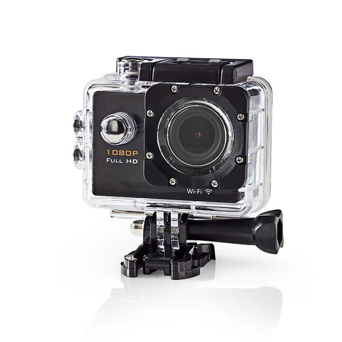 NEDIS ACAM20BK Action Cam Full HD 1080p Wifi Waterproof Case (Action κάμερα Full HD 1080p Wi-Fi, με οθ...)