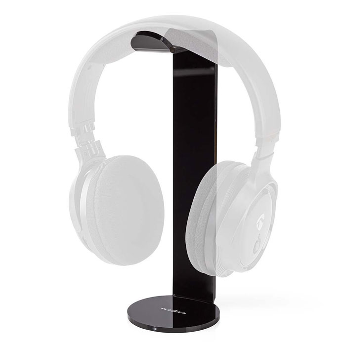 NEDIS HPST100BK Headphones Stand ABS 87 x 244mm Black (Βάση για headset με ύψος 244 mm, σε μαύρ...)
