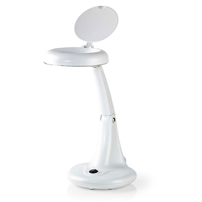 NEDIS MAGL12WWT Magnifier Table Lamp 12 W 6400 K White (Επιτραπέζιο φωτιστικό πάγκου εργασίας, μ...)