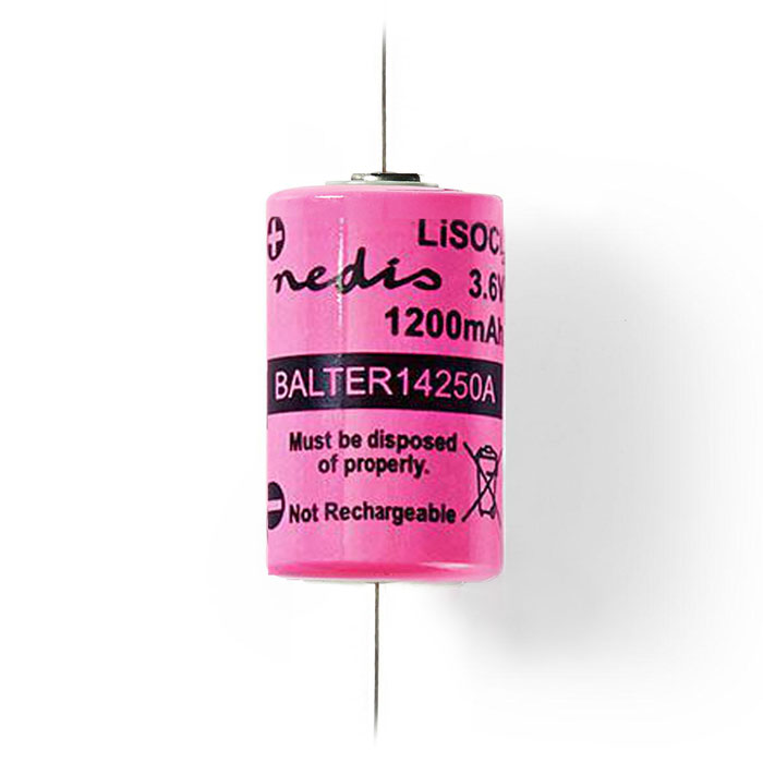 NEDIS BALTER14250A Lithium Thionyl Chloride Battery ER14250 3.6 V 1200 mAh (Μπαταρία Lithium Thionyl Chloride 1/2 AA...)