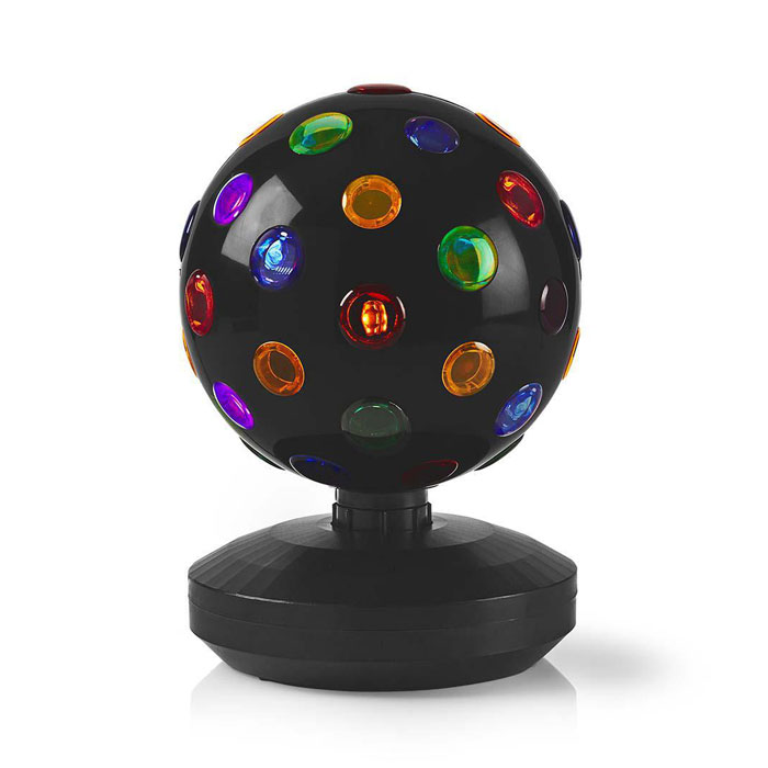 NEDIS FUDI213BK Multi-Colour Disco Ball 6 W 550 lm 20 cm (Πολύχρωμη περιστρεφόμενη disco ball, 19 ...)
