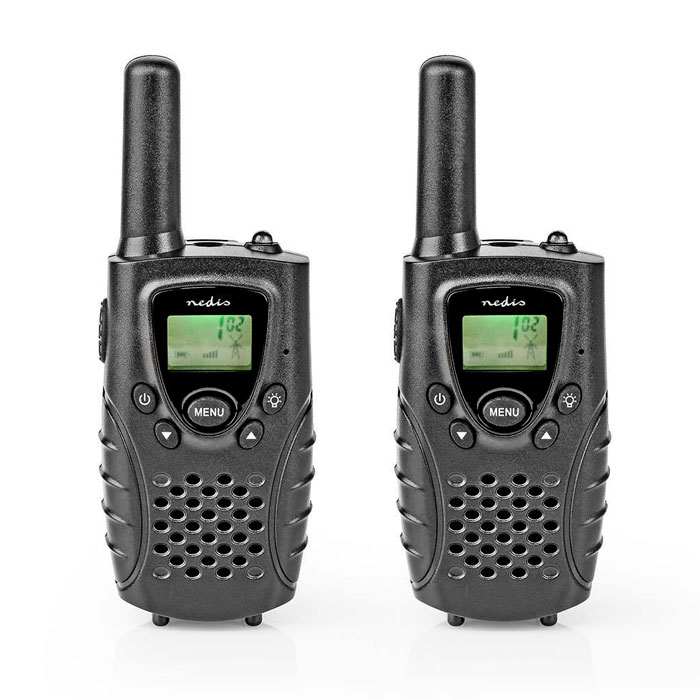 NEDIS WLTK0800BK Walkie-Talkie Range 8 km 8 Channels VOX 2 Pieces Black (Walkie talkie με εμβέλεια έως και 8 km, ...)