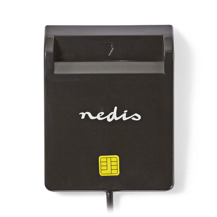 NEDIS CRDRU2SM2BK Smartcard Reader USB 2.0 Black (Smart card reader USB 20)
