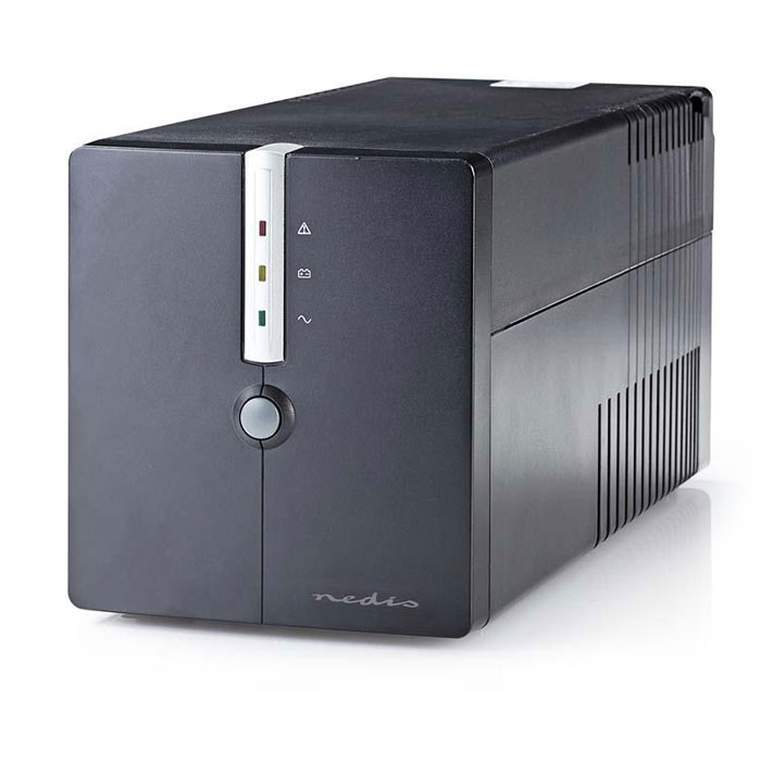 NEDIS UPSD1000VBK Uninterruptible Power Supply 1000 VA 600 W 4 Sockets (Line Interactive UPS, 1000VA)
