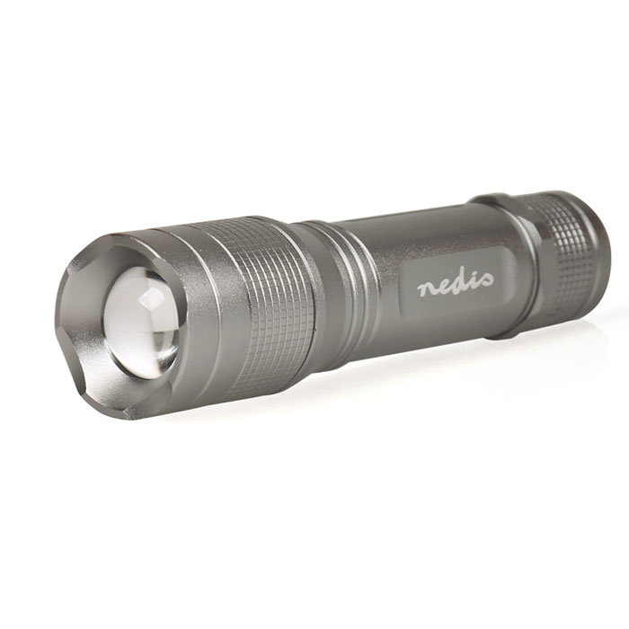 NEDIS LTRH5WGY LED Torch 5 W 30 lm IPX5 Grey (Φακός LED υψηλής ποιότητας 5W 330lm)