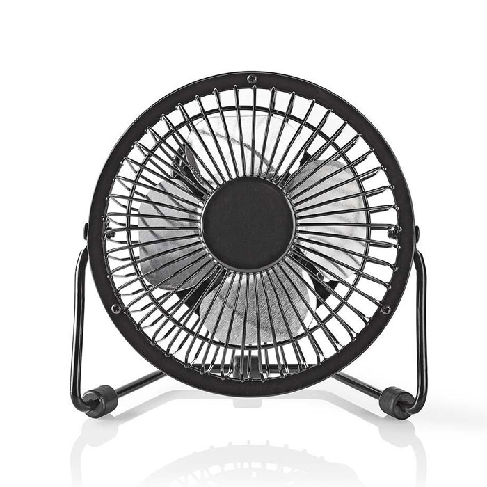 NEDIS FNDK1BK10 Metal Mini Fan 10 cm Diameter USB powered Black (Μεταλλικός mini ανεμιστήρας με σύνδεση U...)