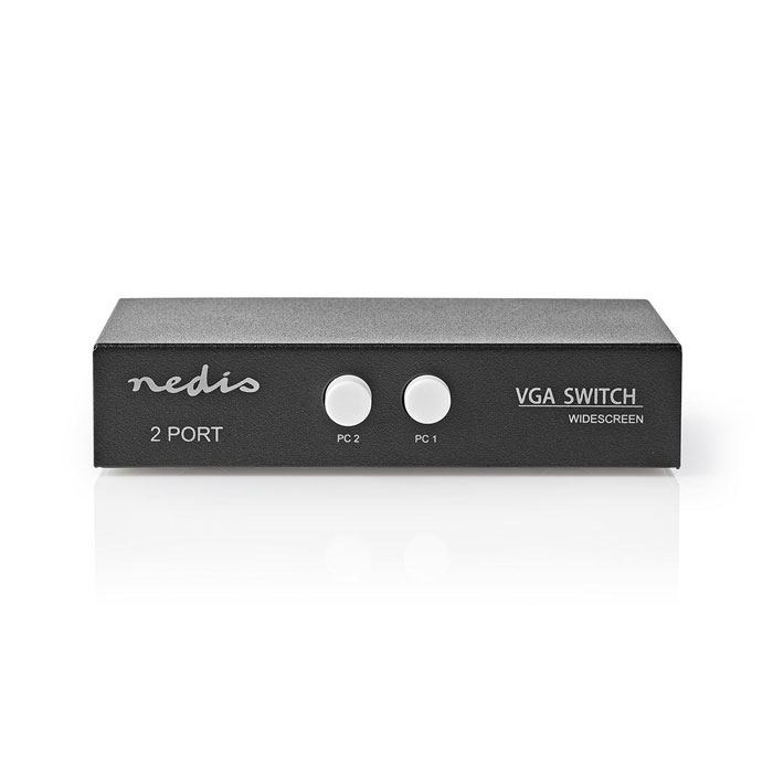NEDIS CSWI5902BK 2-Port VGA Switch Black (VGA switch 2 Η/Υ σε 1 οθόνη)